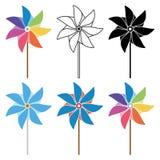 Комплект Pinwheel Стоковое Изображение