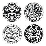 Комплект polynesian татуировки стоковые фотографии rf