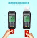 Комплект Receit оплаты карточки кредитного банка Стоковые Фото