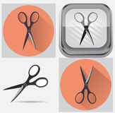 Комплект scissor Стоковое Изображение