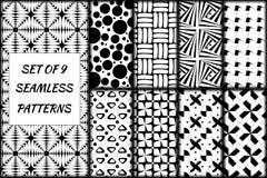 Комплект 9 seampless картин Стоковые Изображения RF