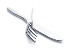 Комплект Silverware или flatware вилки и ножа Стоковое Фото