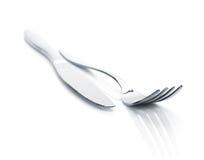 Комплект Silverware или flatware вилки и ножа Стоковое Изображение RF