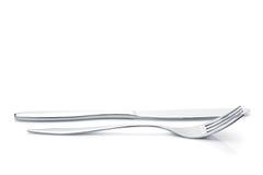 Комплект Silverware или flatware вилки и ножа Стоковые Изображения RF