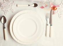 Комплект Tableware рождества Стоковая Фотография