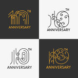 Комплект 10th знаков годовщины иллюстрация вектора