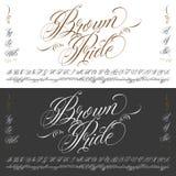 Комплект typescript татуировки гордости Брайна большой Стоковые Фото
