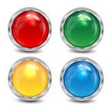 Комплект varicoloured кнопок Бесплатная Иллюстрация