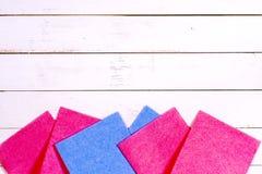Комплект wipes, губок, ведер для очищать Стоковая Фотография RF