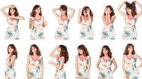 Комплект woman& x27; портреты s Стоковые Изображения RF