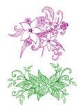 Комплект 2 zentangles весны Стоковые Фото