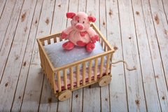 Комфортабельная piggy кукла Стоковое Изображение RF