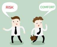 Комфорт или мультфильм дела зоны риска бесплатная иллюстрация