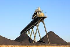 Конвейерная лента добычи угля Стоковые Фотографии RF