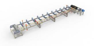 Конвейерная лента для перехода материалов Иллюстрация штока
