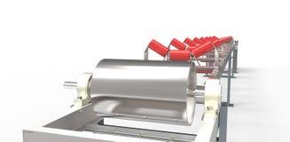 Конвейерная лента для перехода материалов Стоковое фото RF