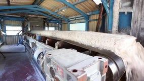 Конвейерная лента транспортируя гидроокись алюминия к объекту хранения видеоматериал
