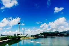 Конвенция башни Макао и Sai Van мост Стоковые Изображения RF