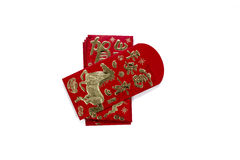 Конверт красного цвета Angpau Стоковая Фотография