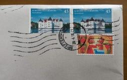 Конверт почты с отмененными штемпелями от немца Стоковые Фотографии RF
