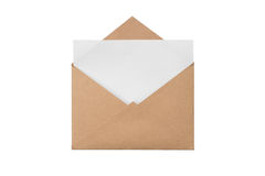 Конверт с с чистым листом Стоковые Фотографии RF