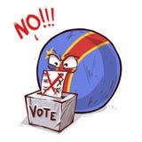 Конго голосуя нет бесплатная иллюстрация