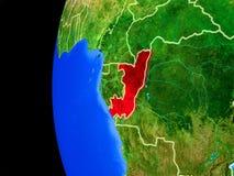 Конго от космоса иллюстрация вектора