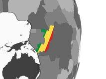 Конго с флагом на глобусе иллюстрация вектора