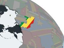 Конго с флагом на глобусе бесплатная иллюстрация