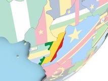 Конго с флагом иллюстрация вектора