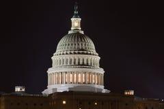 Конгресс США на ноче Стоковое Изображение RF