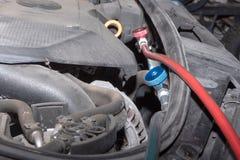 Кондиционирование воздуха на автомобиле заполнено стоковые фото