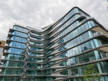 Кондо Zaha Hadid новое Челси на Манхаттане стоковая фотография rf