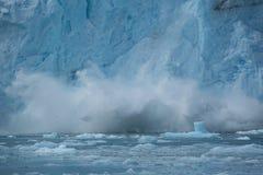 Конец аварии ледника вверх Стоковые Фотографии RF