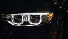 конец автомобиля освещает вверх Стоковые Изображения RF