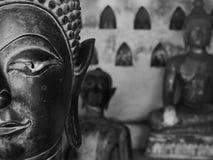 Конец Будды вверх на Wat Sisaket - Вьентьян Стоковое Изображение