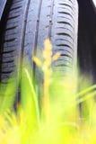 Конец-вверх автошины автомобиля лета в лете Стоковое фото RF