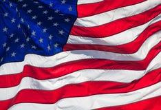 Конец-вверх американского флага Стоковая Фотография RF