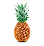 Конец-вверх ананаса изолированный на белизне Стоковые Фото