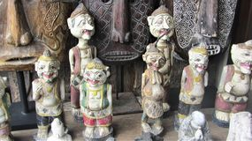 Конец-вверх балийских ремесленничеств стоковые фотографии rf