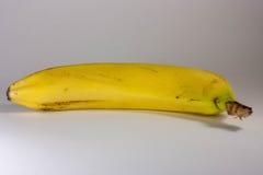Конец-вверх банана на белой предпосылке Стоковая Фотография RF