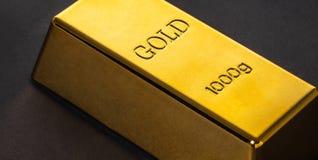 Конец-вверх бара золота стоковое изображение
