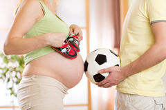 Конец-вверх беременной женщины и ее супруга Стоковое Изображение