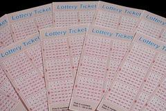 Конец-вверх билетов лотереи стоковые изображения rf