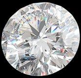 Конец-вверх больших круглых изолированных диаманта или драгоценной камня Стоковое Изображение