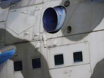 Конец-вверх большого военного вертолета, частей и элементов тела стоковая фотография