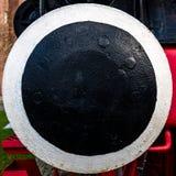 Конец-вверх буфера исторического локомотива, абстрактное впечатление через ограничение изображения стоковые изображения rf
