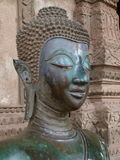 Конец-вверх Будды - Лаос Стоковое Фото