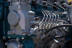 Конец-вверх двигателя автомобиля Стоковое фото RF