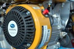 Конец-вверх двигателя Subaru снятый на выставке мотора Стоковая Фотография